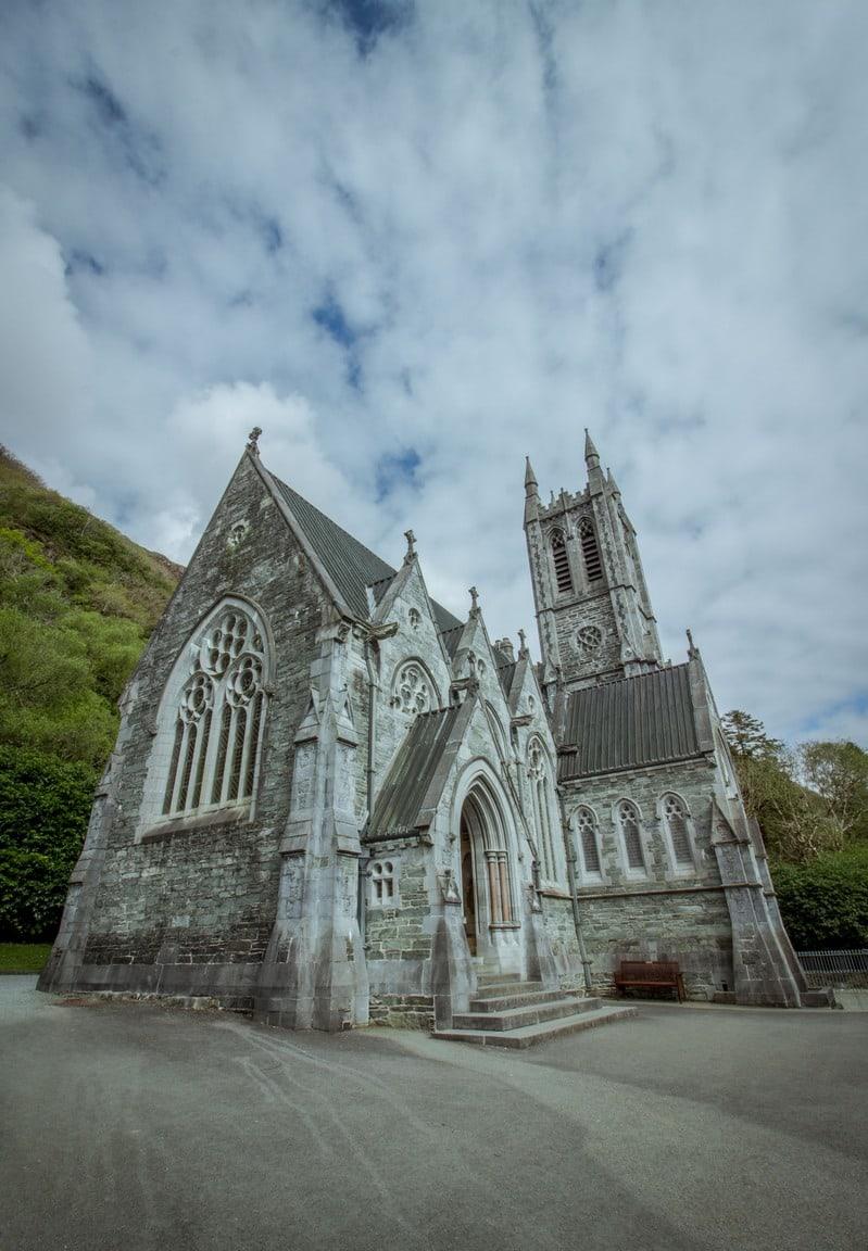 L'église néo-gothique de la Kylemore Abbaye
